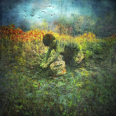 Gaia Digital Art - One With The Earth by Melissa D Johnston