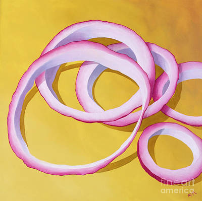 Painting - Onion Rings by Garry McMichael