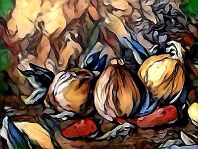 Digital Art - Onions And Peppers Digital by Megan Walsh