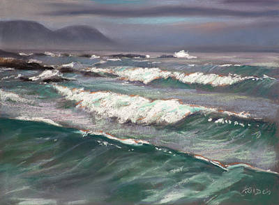 Sea Painting - Onrusrivier Beach by Christopher Reid