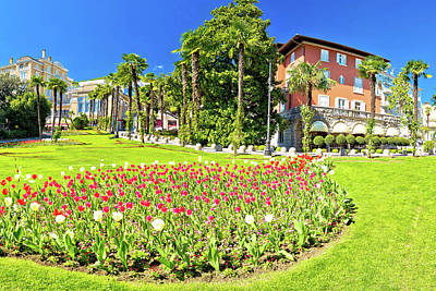 Photograph - Opatija Park And Architecture Panoramic View by Brch Photography