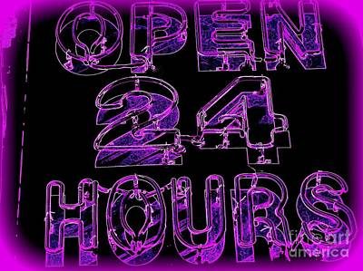 Digital Art - Open 24 Hours by Ed Weidman
