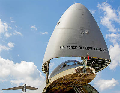 Photograph - Open Cargo Door On C5 Cargo Airlifter by Phil Cardamone