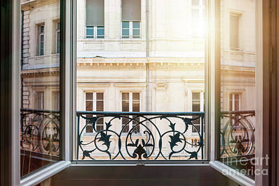 Panes Photograph - Open Window In Toulouse by Elena Elisseeva