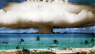 Baker Island Photograph - Operation Crossroads Baker, 1946 by Science Source