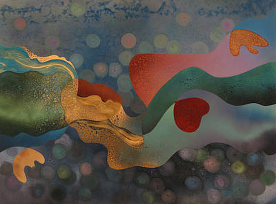 Miro Painting - Ophelia by Fred Chuang