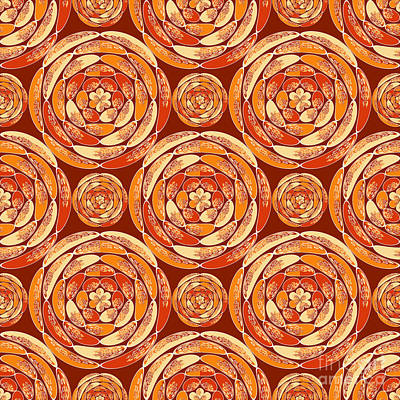 Orange Pattern Art Print by Gaspar Avila