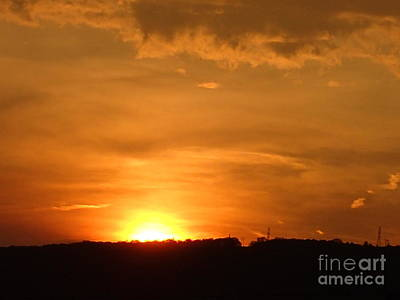 Photograph - Orange Sunset  II by Christina Verdgeline