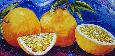 Oranges Print by Paris Wyatt Llanso
