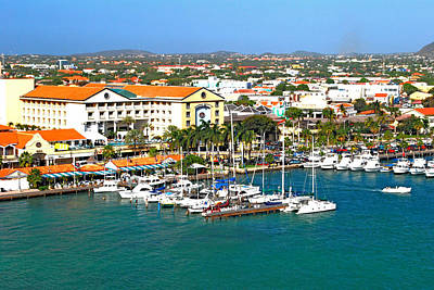 Photograph - Oranjestad Aruba by Gary Wonning