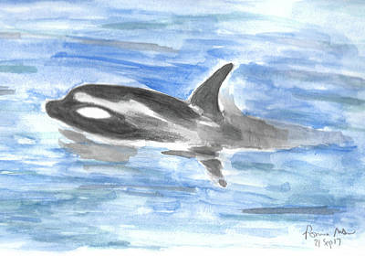 Orca Mixed Media - Orca by Ronnie Maum
