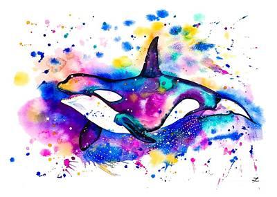 Painting - Orca by Zaira Dzhaubaeva