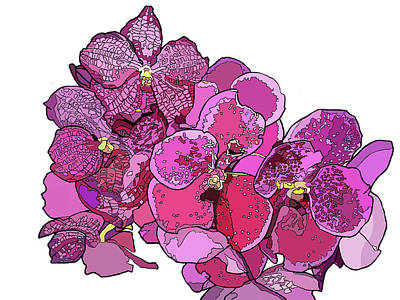 Painting - Orchid Cluster by Jamie Downs