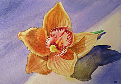 Note Cards Painting - Orchid by Irina Sztukowski