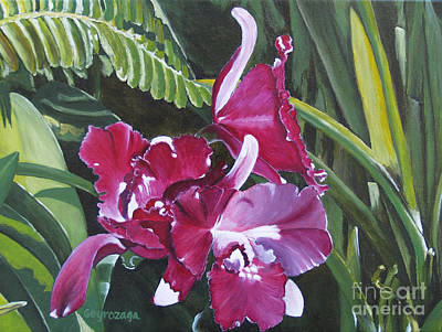 Painting - Orchid by Larry Geyrozaga