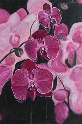 Painting - Orchids In Paris by Claudia Croneberger