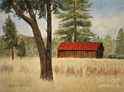 Oregon Barn Art Print by Stanton Allaben