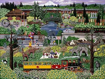 Oregon Zoo Art Print