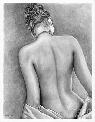 Original Pencil Drawing Nude Female Www.olgabell.ca Art Print by Olga Bell