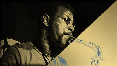 Ornette Coleman Collection Print by Marvin Blaine