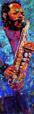 Saxophone Painting - Ornette Coleman by Debra Hurd