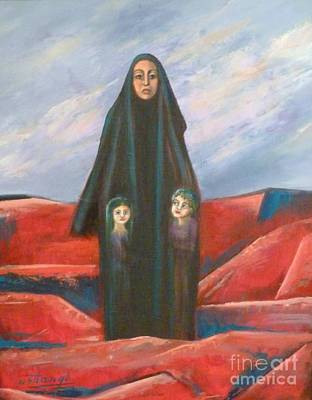 Painting - Orphans by Ushangi Kumelashvili