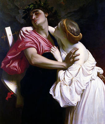 Orpheus Painting - Orpheus And Euridice by Frederic Leighton