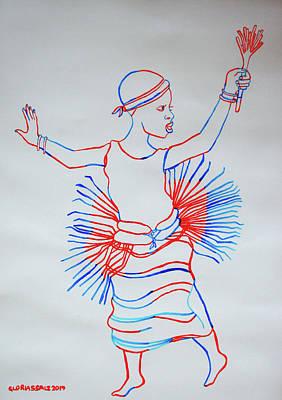 Painting - Orunyege Dance Bunyoro Uganda by Gloria Ssali