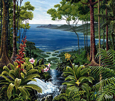 Recycled Painting - Osa Peninsula Costa Rica by Michael Cranford