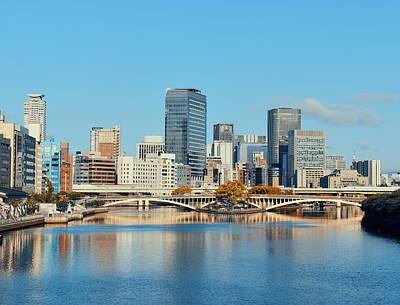 Photograph - Osaka Skyline by Songquan Deng