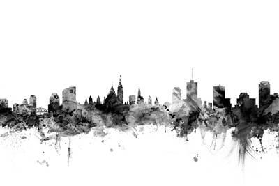 Ottawa Skyline Digital Art - Ottawa Canada Skyline by Michael Tompsett