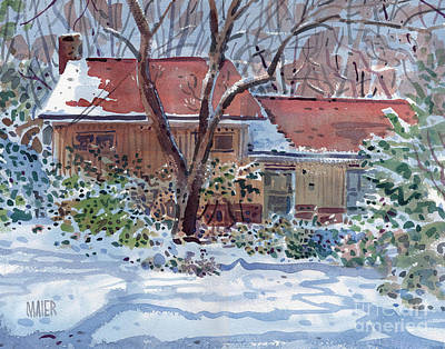 Our House Art Print by Donald Maier
