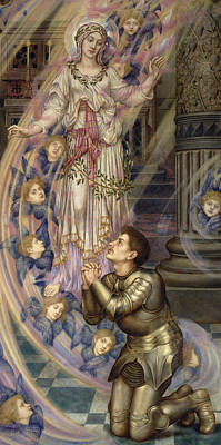 Super Girl Painting - Our Lady Of Peace by Evelyn De Morgan