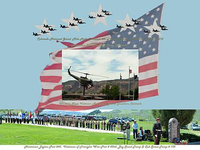 4th July Digital Art - Our Memorial Day Salute by Daniel Hebard