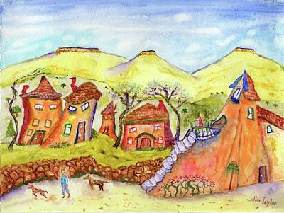 Painting - Out Of Kilter Village by Jim Taylor