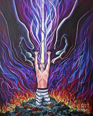 Painting - Out Of The Ashes by Nancy Cupp