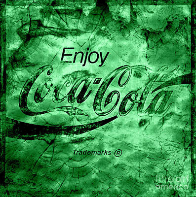Photograph - Out Of This World Coca Cola Green by John Stephens