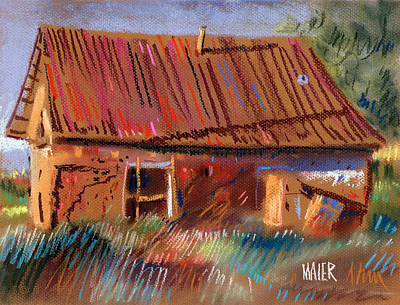 New Mexico Drawing - Outbuilding by Donald Maier