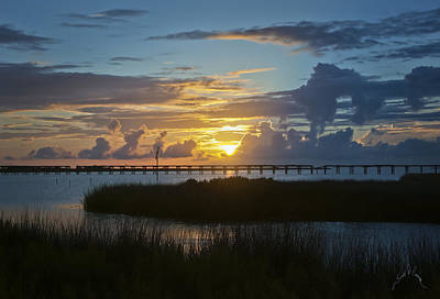 Sunsets Photograph - Outer Banks Sunset by Williams-Cairns Photography LLC