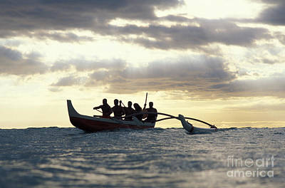 Photograph - Outrigger Canoe by Vince Cavataio - Printscapes
