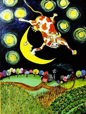Over The Moon Art Print by Tex Norman