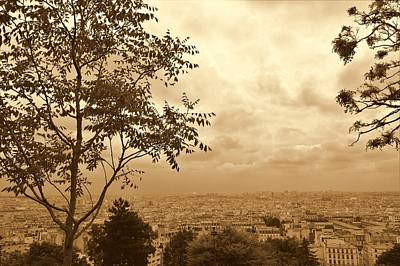 Paris Skyline Royalty-Free and Rights-Managed Images - Over The Top  by Marla McPherson