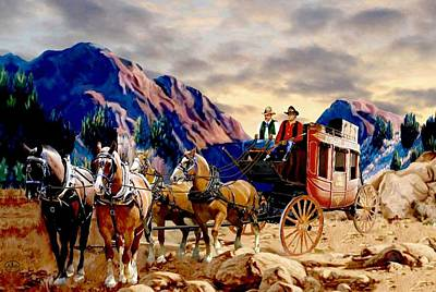 Team Or Horses Digital Art - Overland Trail 2 by Ron Chambers