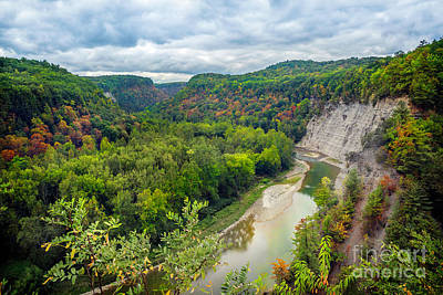 Photograph - Genesee Gorge Near Tea Table Letchworth by Karen Jorstad