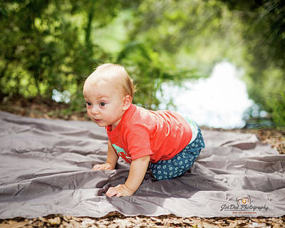Photograph - Owen Crawls by Joedes Photography