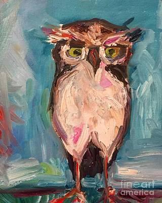 Painting - Owl by Karen Ahuja
