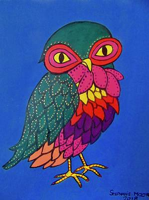 Owl Art Print by Stephanie Moore