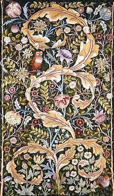 William Morris Painting - Owl by William Morris