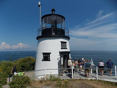 Photograph - Owls Head Light by Catherine Gagne