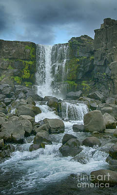 Photograph - Oxarafoss Iceland 3 by Rudi Prott